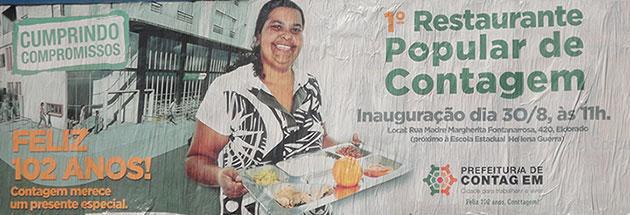 Primeiro Restaurante popular de Contagem