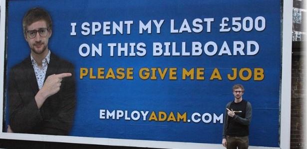 Conategm outdoor ingles adam pacitti publica outdoor em busca de emprego Jovem britânico pede emprego em outdoor e recebe 60 propostas   Outdoor em BH, Contagem, Betim   Contagem Outdoor