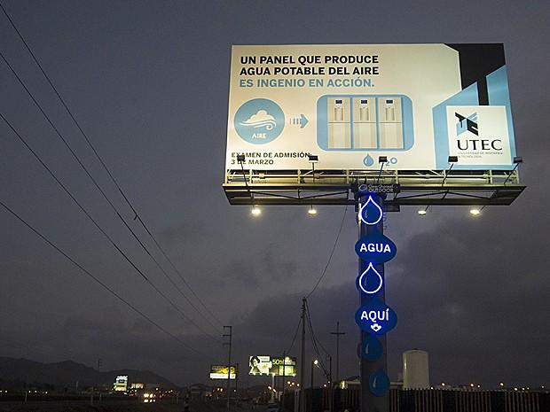 Contagem Outdoor Outdoor no Peru transforma ar em água potável   Outdoor em BH, Contagem, Betim   Contagem Outdoor