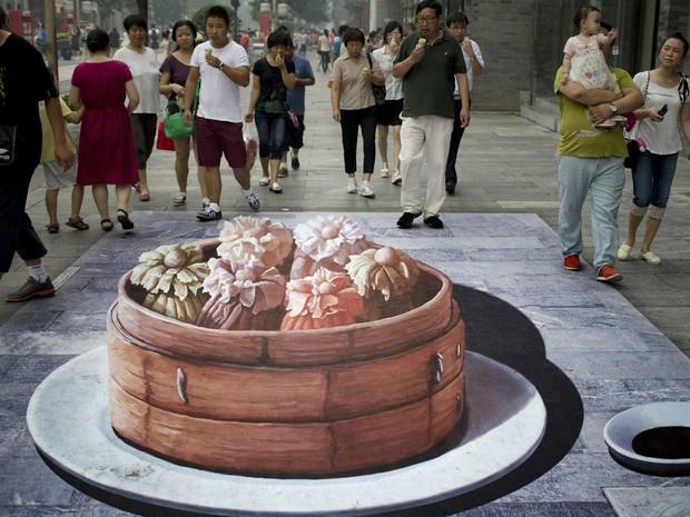 Contagem outdoor pinturas 3d china bolo Pinturas em 3D são atração em ponto turístico de Pequim   Outdoor em BH, Contagem, Betim   Contagem Outdoor