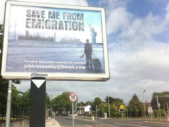 Contagem outdoor outdoor para procurar emprego Irlandês cria propaganda em outdoor para encontrar emprego   Outdoor em BH, Contagem, Betim   Contagem Outdoor