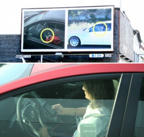 391994 Outdoor gigante com câmera secreta envergonha motoristas ao exibi los usando celular enquanto dirigem   Outdoor em BH, Contagem, Betim   Contagem Outdoor