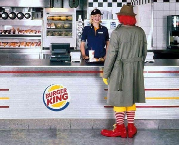 burger king Os 10 anúncios impressos mais inteligentes   Outdoor em BH, Contagem, Betim   Contagem Outdoor