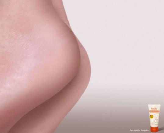 samantha cracked heel lotion sexy heels Os 10 anúncios impressos mais inteligentes   Outdoor em BH, Contagem, Betim   Contagem Outdoor