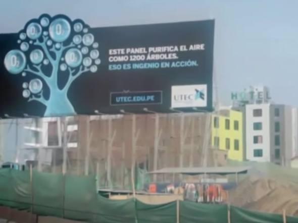 Agência peruana cria outdoor que purifica o ar   Outdoor em BH, Contagem, Betim   Contagem Outdoor