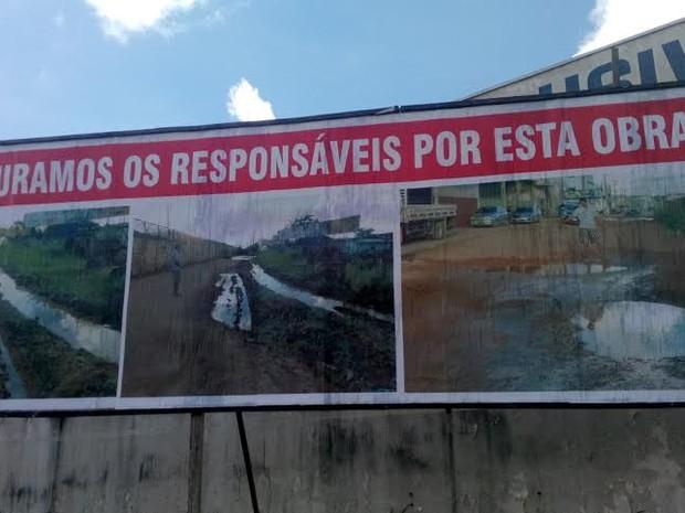 ji parana Moradores usam outdoor para cobrar conclusão de obra na BR 364, em RO   Outdoor em BH, Contagem, Betim   Contagem Outdoor